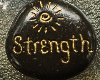 Strength Inspirational Stone