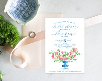 PRINTABLE Bridal Shower Invitation | Cup of Flowers