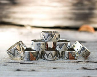 Sterling Silver Idaho Mountain Ring