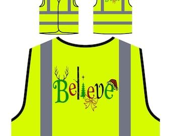 Believe and You can Achieve Safety Jacket Vest v967v