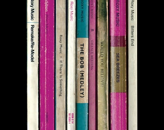 Roxy Music Poster Print Debut Album As Penguin Books, Literary Print, Music Poster, Bryan Ferry Brian Eno Art