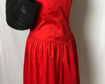Vintage SERBIN BY MARIANNE  Red Sun dress