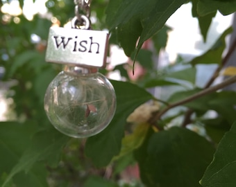 Make A Wish - Dandelion seed necklace