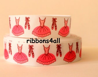 """7/8"""" Grosgrain Ribbon by the Yard, Ballerina Ribbon, Ballet Ribbon for Crafts, Decor, Ballerina Gifts, Hairbows, or Gifts"""