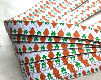 Argyle Clovers~ Moravian German Froebel Star Paper (52 strips)