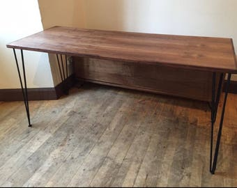 American black walnut Dining table and benches. Made to order.