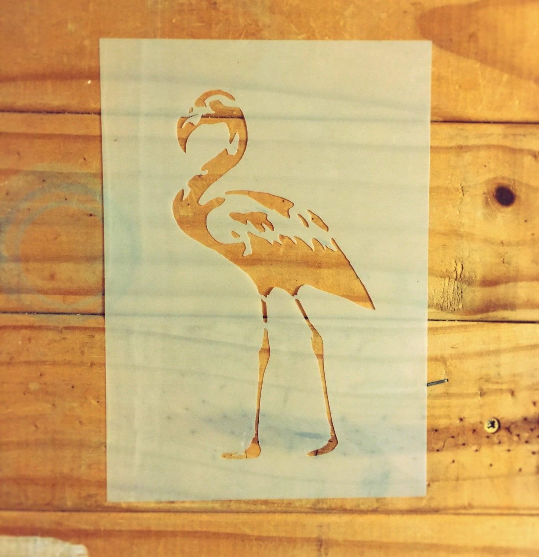 Flamingo STENCIL for home interior decor / reusable craft airbrush ...