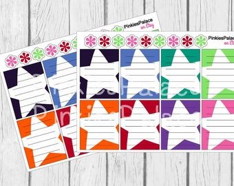 Star Full Box Planner Stickers Lined Notes Planner Stickers eclp PS456 Fits Erin Condren Vertical and Plum