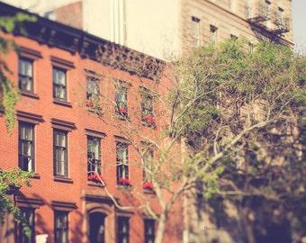new york city photograph nyc photography chelsea manhattan brownstones urban decor elegant decor apartment large wall art oversized wall art