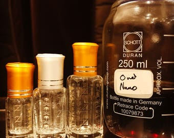 Oud Nano by Oud Zaher Original Agarwood Blend with Taif Rose and Sandalwood Artisan Attar