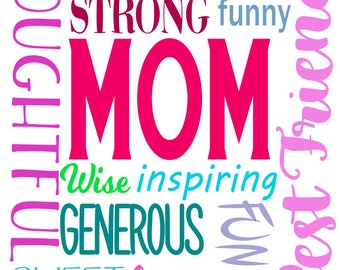 mom subway art svg dxf and png files