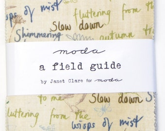 A Field Guide charm pack by Janet Clare for Moda fabric
