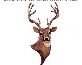 Intarsia Deer Wood Wall Hanging