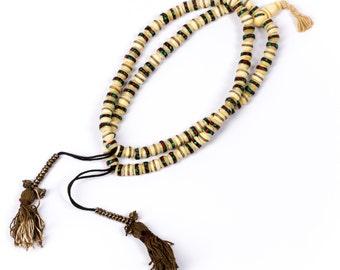 Mala Meditation Beads Yak Bone Inlayed beads 108 Mala beads Yogi Jewellery Prayer Beads Buddhist Free UK Delivery + Gift Bag M7