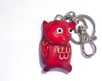 Cute Red Owl Keychain