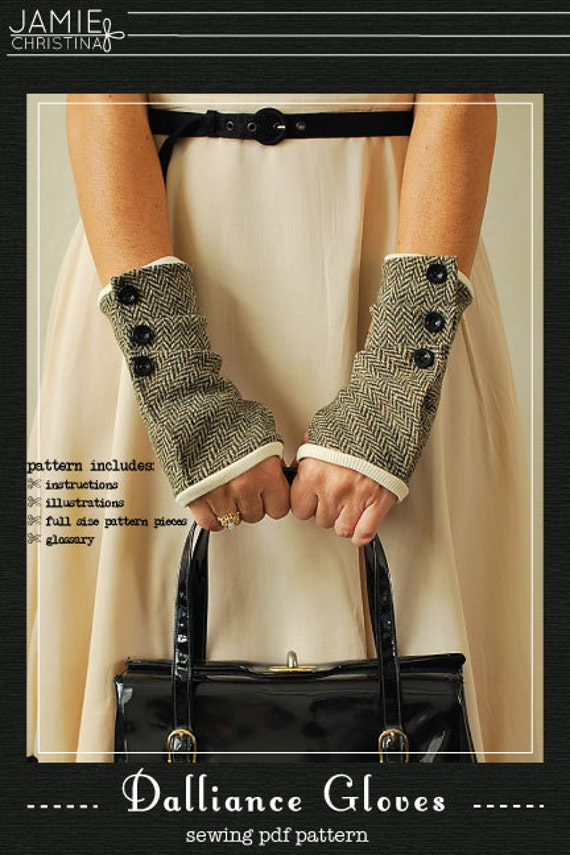 Dalliance Gloves sewing e-pattern fingerless gloves sewing