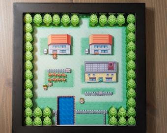 Pokemon Map - GBA Shadowbox