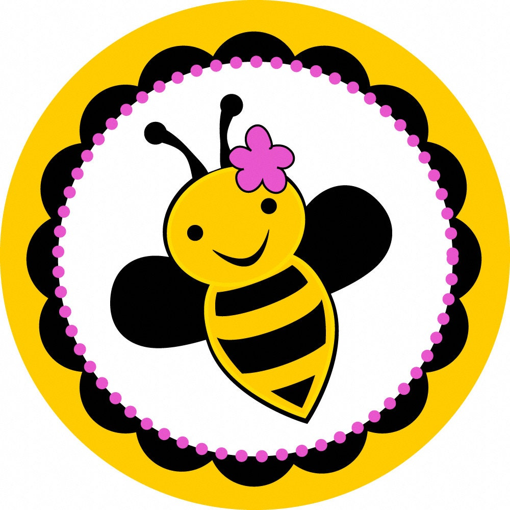 Bumble Bee Stickers set of 25