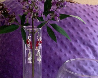 Purple & Hearts Earrings