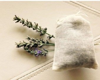 12 (one dozen)-  Dried Lavendar in 3x4 Muslin Sachets