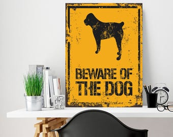 Well-known Beware of the dog | Etsy UB37