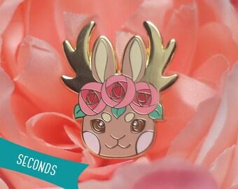 Jackalople Flower Crown Enamel Lapel Pin (Seconds Sale)