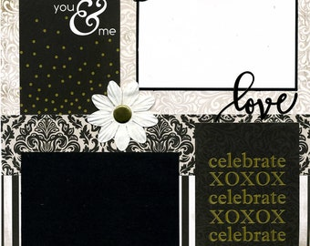 You & Me - Premade Scrapbook Page