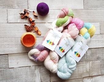 Alpaca yarn, hand dyed alpaca yarn, 4ply alpaca yarn, DK alpaca yarn, variegated alpaca yarn, alpaca yarn, pink alpaca, blue alpaca, uk.