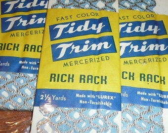 Vintage Tidy Trim Rick Rack Packages All New You Choose The Amount
