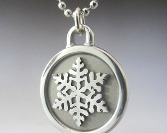 Snowflake Engravable Stainless Steel Necklace
