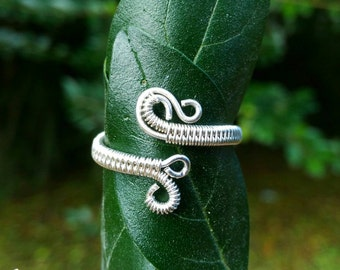Adjustable Sterling Silver Wire Wrapped Ring
