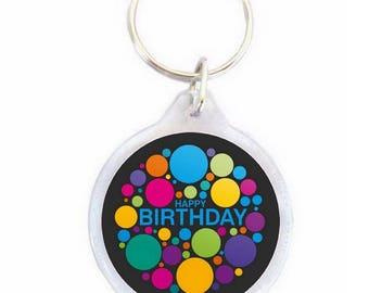 Happy Birthday - happy birthday Keyring