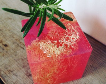 Pink grapefruit essential oil  - SLS free - Phthalate free - Exfoliating with loofah - Lovely gift