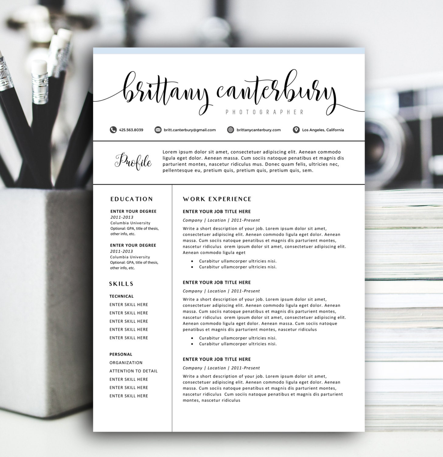 Modern Resume Template Modern Resume Design for Word 12