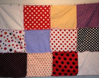 Polka Dot Modern Rag Quilt