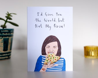 Funny Pizza Card, Funny Anniversary Cards For Him, Funny Anniversary Cards for Boyfriend, Funny Anniversary Cards For Husband, Geeky Love