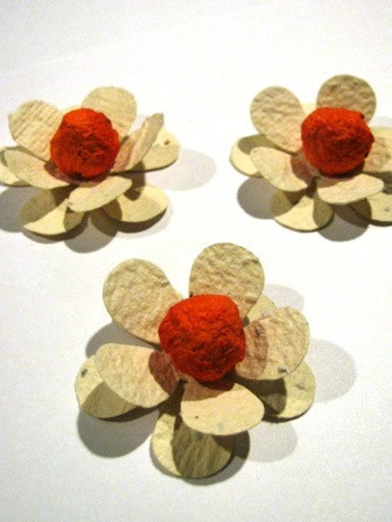 50 plantable paper flowers homemade paper mixed with seeds like this item mightylinksfo Image collections