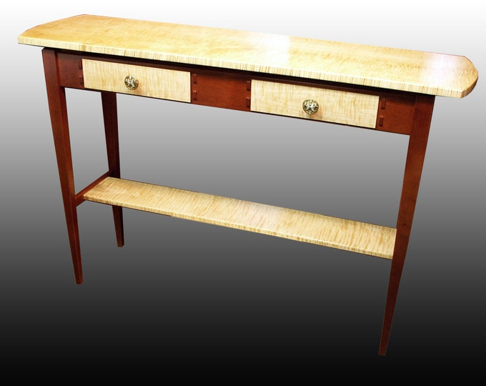 Side Table - Curly Maple & Cherry