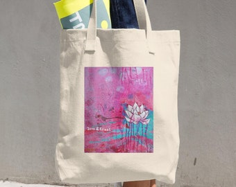 """farmer's market bag """"love and trust - this is all"""""""