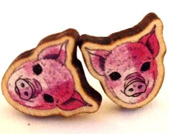 Piggy Earrings - 10mm Studs
