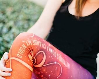 Beatles Yoga Pants Capri Length Women's Leggings Jai Guru Deva Om Across the Universe Pilates Gift for Her