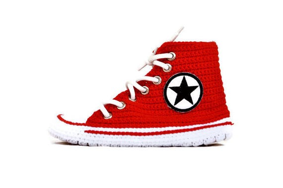 712ee5b97de0 AHTCRCS Converse Top Converse Red Converse Crochet Shoes House Crochet  Knitting Slippers Male Shoes Crochet Red ...