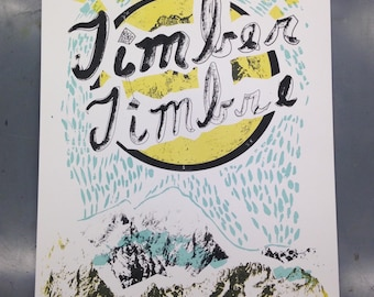 Timber timbre gig poster limited edition art print
