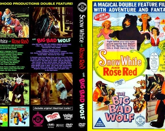 Snow White And Rose Red / Big Bad Wolf (1966) Childhood Productions DVDR!
