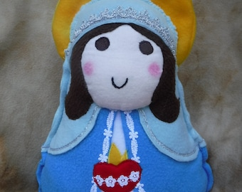 Saint Doll  Immaculate Heart Virgin Mary Soft Catholic Religious Toy