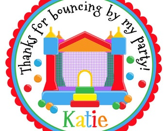 Bounce House Stickers-Bounce House Birthday Party-Bounce House Tags-Set of 12