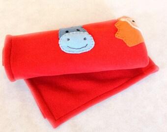 Red cover pet fleece
