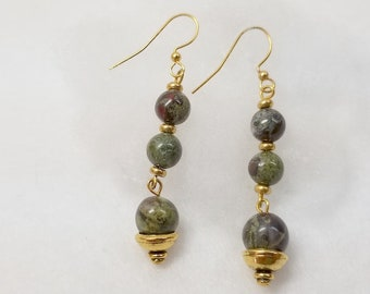 Blood Jasper Dangle Earrings