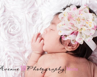 Vintage Spring Floral Printed Headband - Easter Headband - Newborn - Baby Girls - Baby Headbands, Baby Hairbow, Newborn Headbands