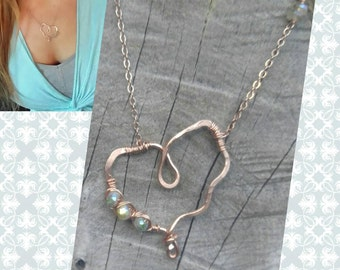 RESERVED rose gold heart